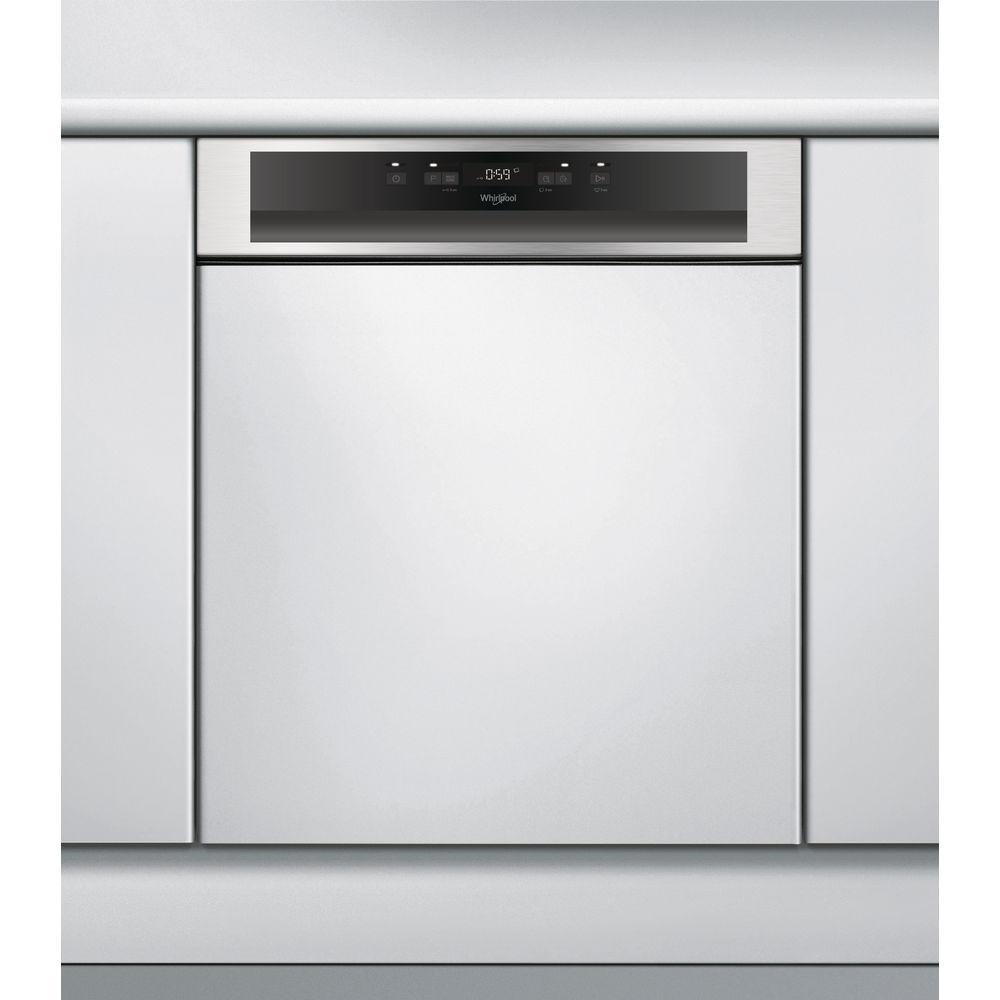 WHIRLPOOL polu-ugradna mašina za pranje sudova WBC 3C26 X