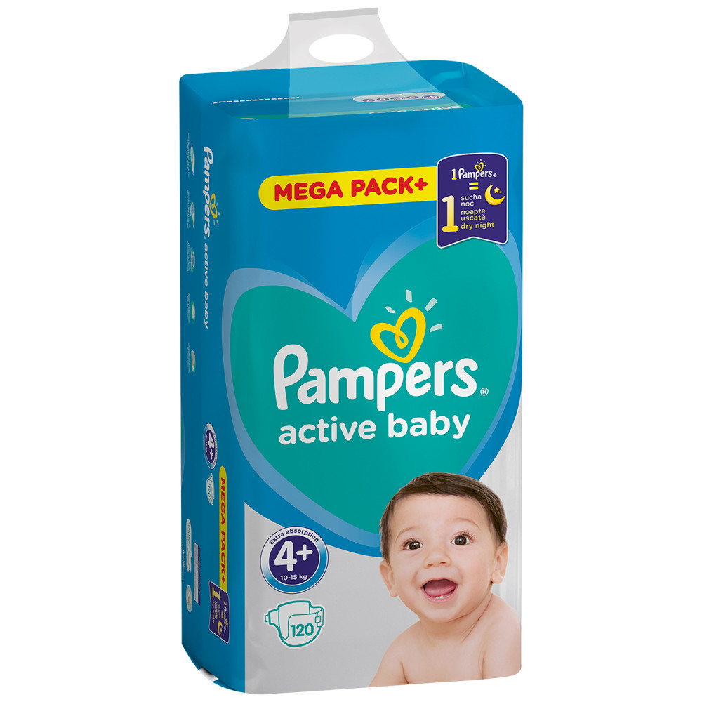 PAMPERS AB MB 4+ MAXI+ (120)