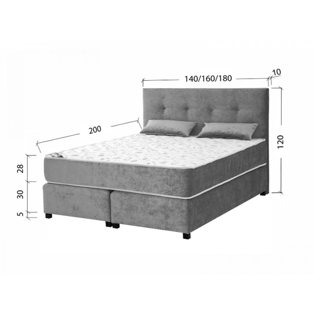 MATIS krevet afrodita - 160x200 msafr180200t56