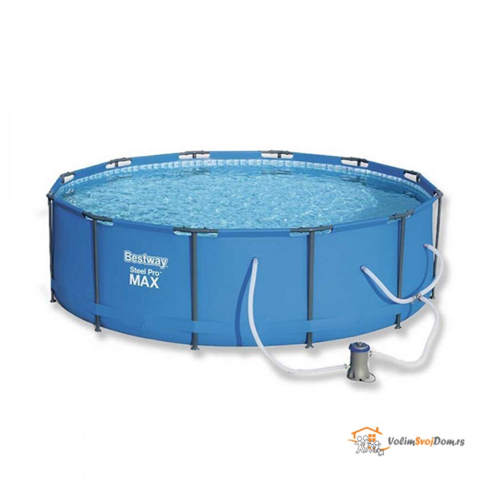 BESTWAY za dvorište sa čeličnim ramom i pumpom Max Pool 366x76cm 56416