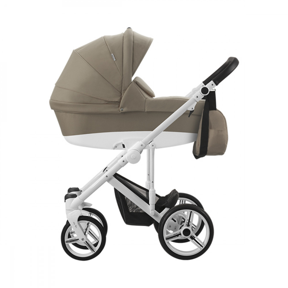 BEBETTO magnum kolica za bebe beli ram, set 3u1