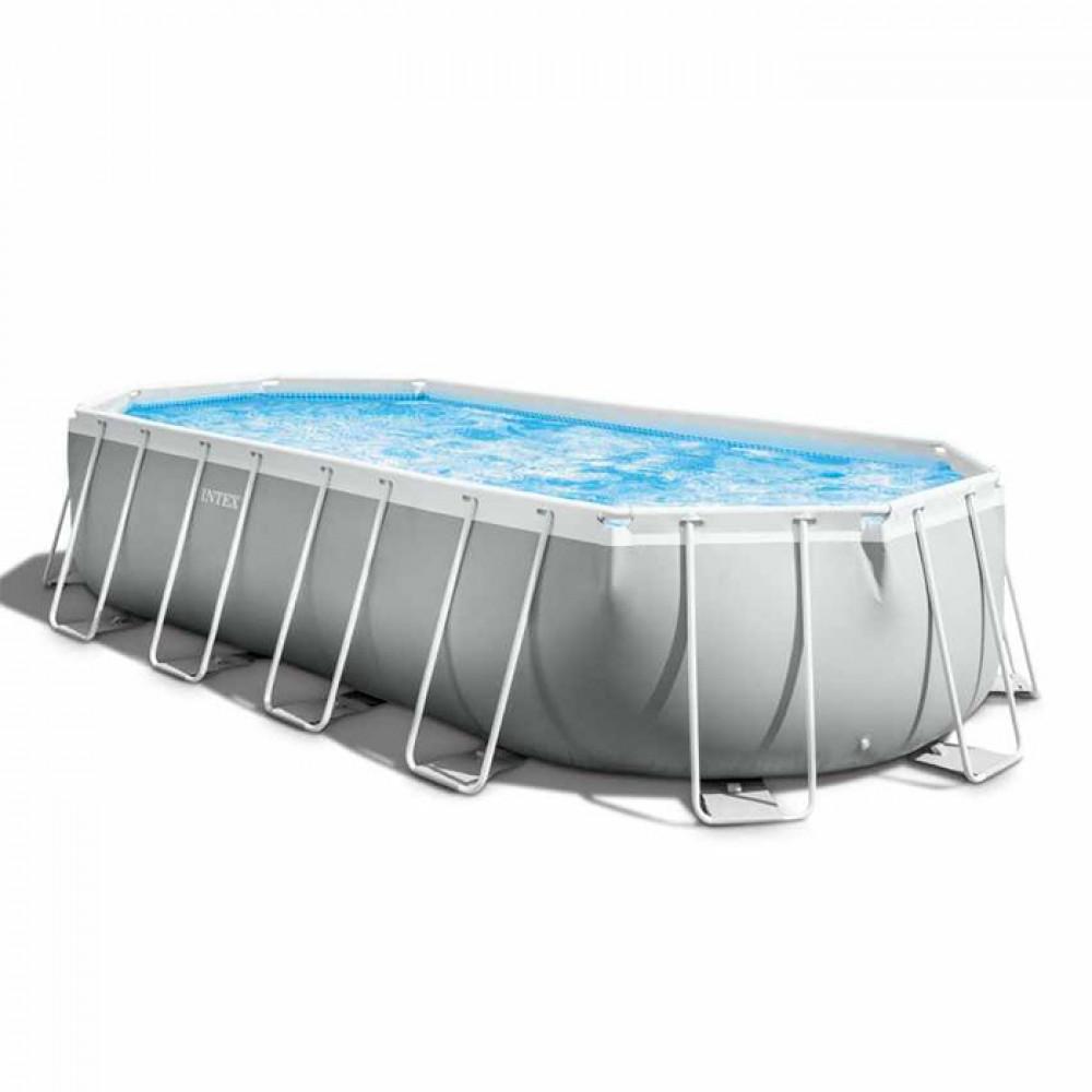 INTEX porodični bazen metalni okvir 6.1 x 3.05 x 1.22 - Prism frame oval 26798