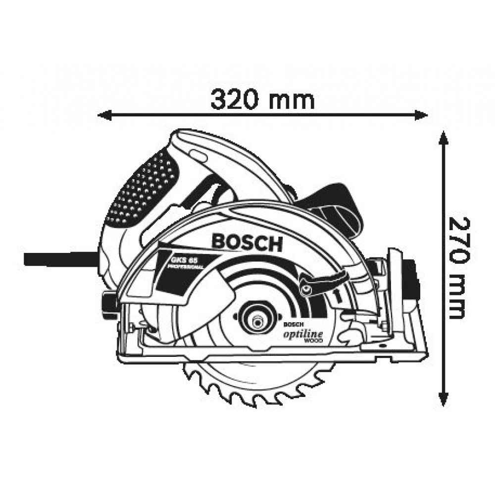 BOSCH kružna testera GKS 65 (0601667001)