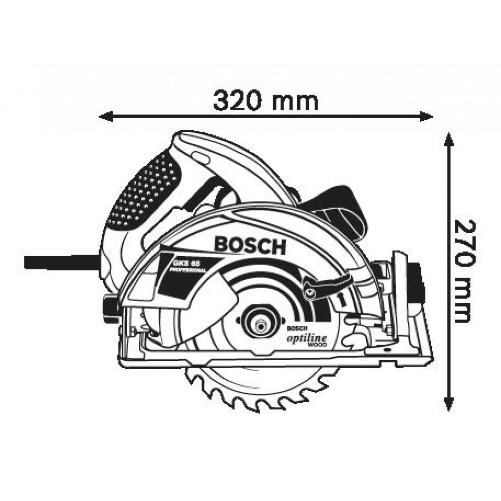 BOSCH kružna testera GKS 65 (0601667000)
