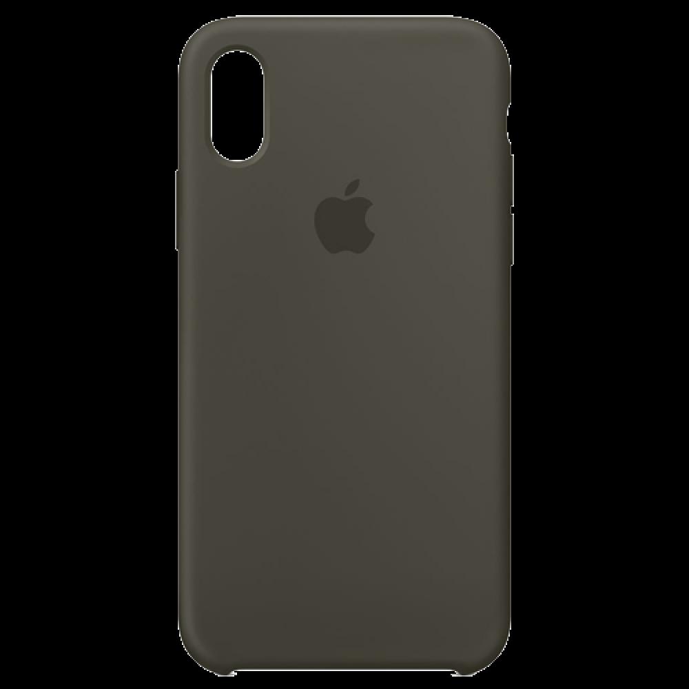timeless design 62450 8d542 APPLE iPhone X Silicone Case - Dark Olive MR522ZM/A