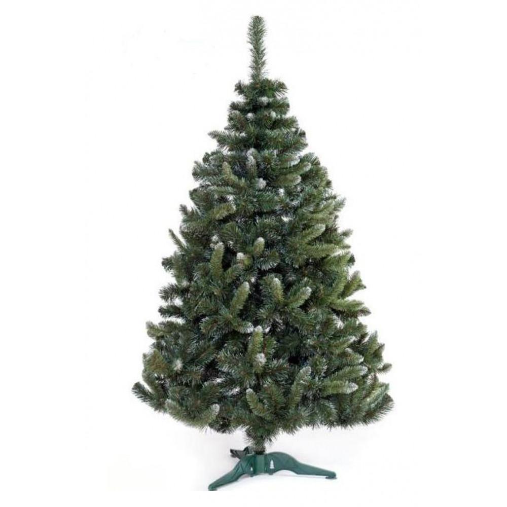 Zelena novogodišnja jelka sa belim vrhovima 250 cm 21346