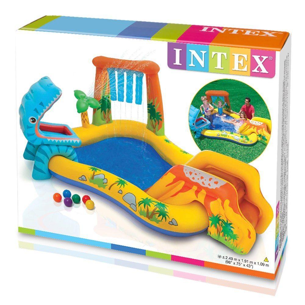 INTEX dečiji bazen 2.49 x 1.91 x 1.09 - dinosaurus centre 57444