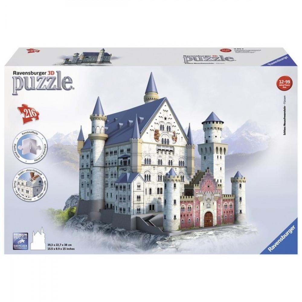 RAVENSBURGER 3D puzzle - Zamak Nojsvanstajn RA12573