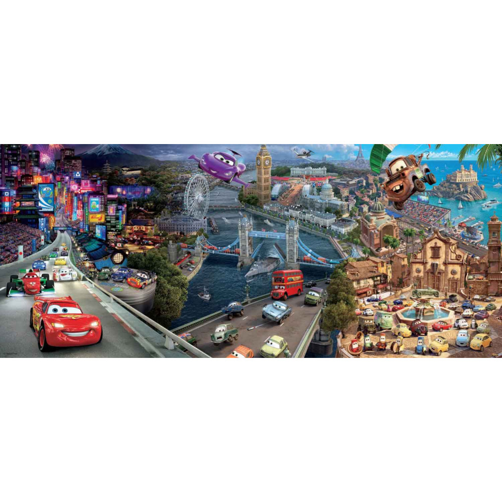 RAVENSBURGER puzzle (slagalice) - Cars panorama RA12645