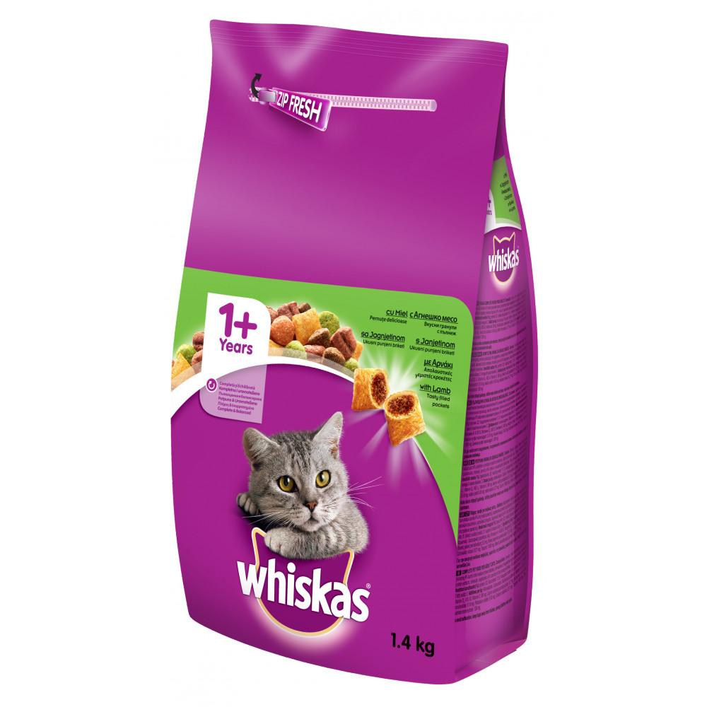 WHISKAS hrana za mačku, briketi, jagnjetina 1.4kg ARCH 520203