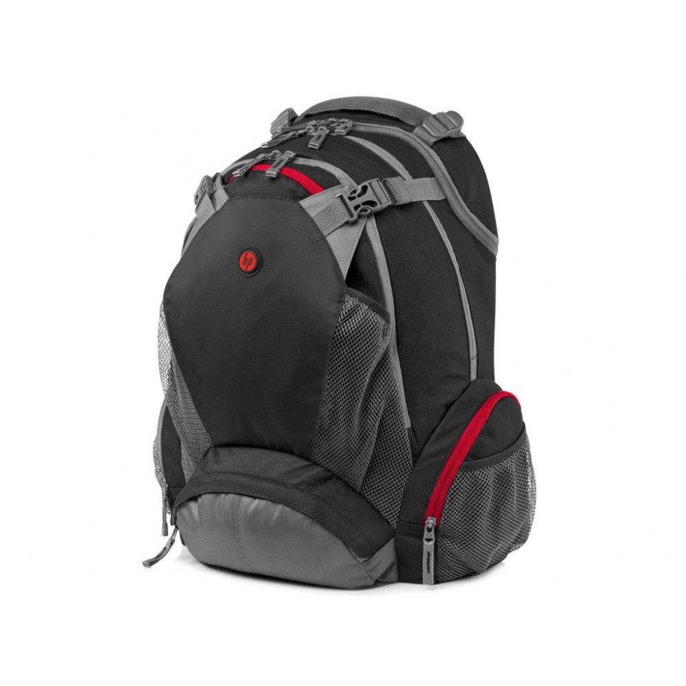 HP Full Featured Backpack 17.3 Case Black/Grey/Red F8T76AA