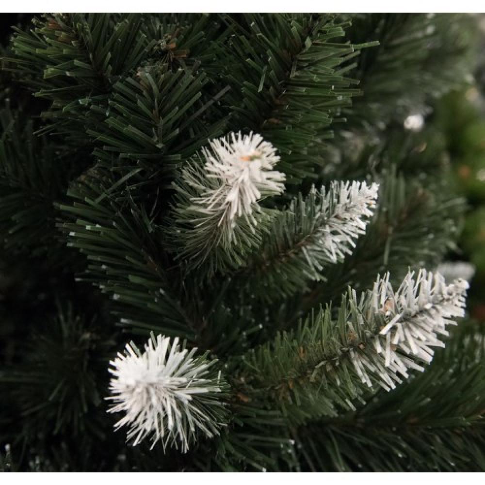 Zelena novogodišnja jelka sa belim vrhovima 220 cm 21339