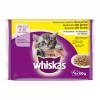 WHISKAS hrana za mačku, 4x100g Meso i povce Junior 520168