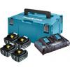 MAKITA LXT set u koferu Makpac 3, BL1840Bx 4 kom, DC18RD PUNJAČ 197503-4