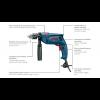 BOSCH vibraciona bušilica sa klasičnim futerom na ključ GSB 1300 06011A1020